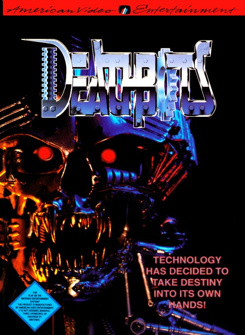 Front boxart of the game Deathbots on Nintendo NES