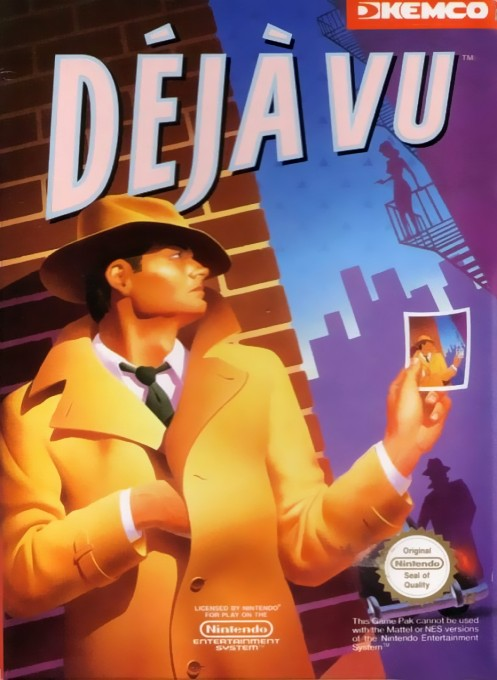 Front boxart of the game Deja Vu (Europe) on Nintendo NES