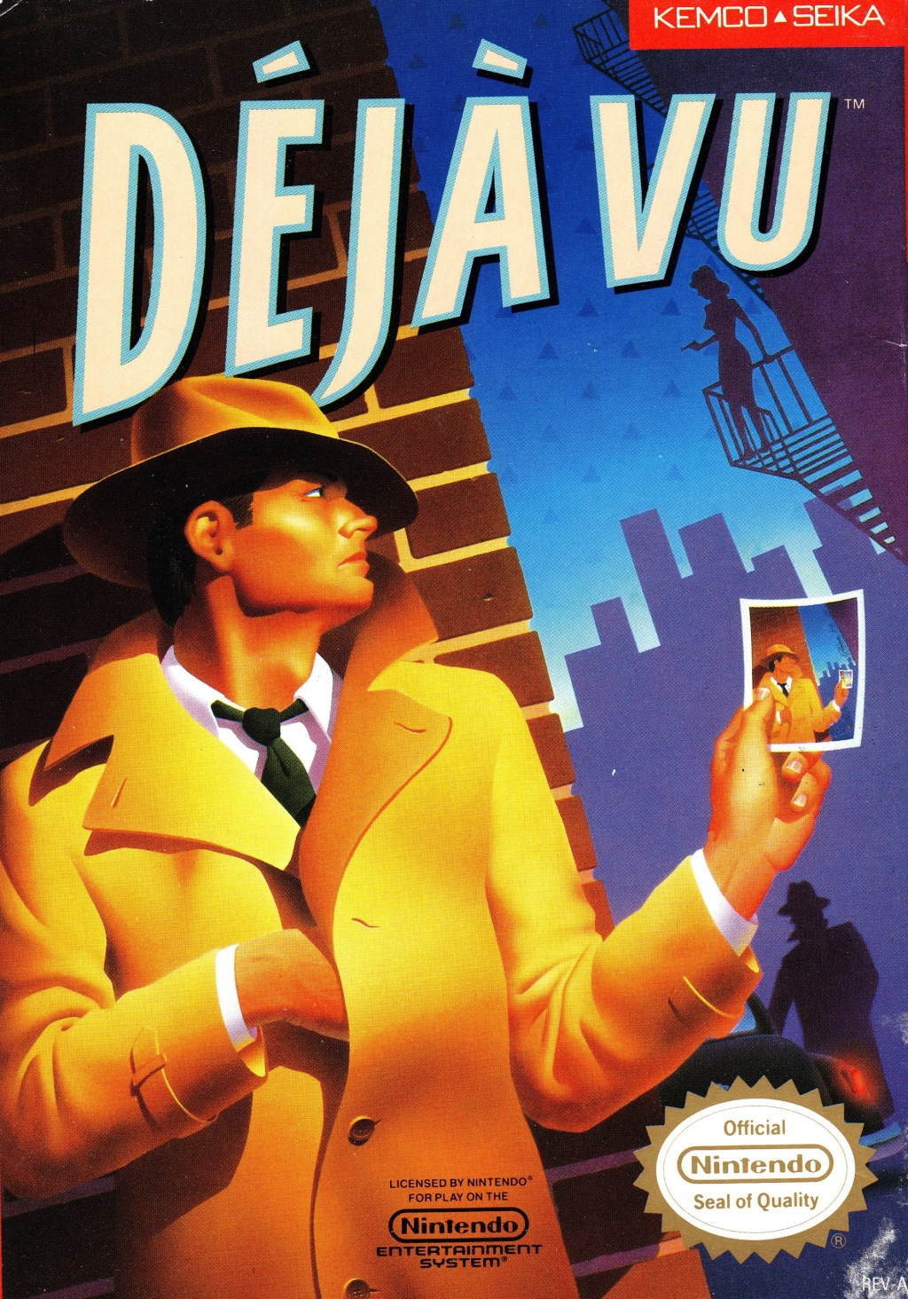 Front boxart of the game Deja Vu (United States) on Nintendo NES