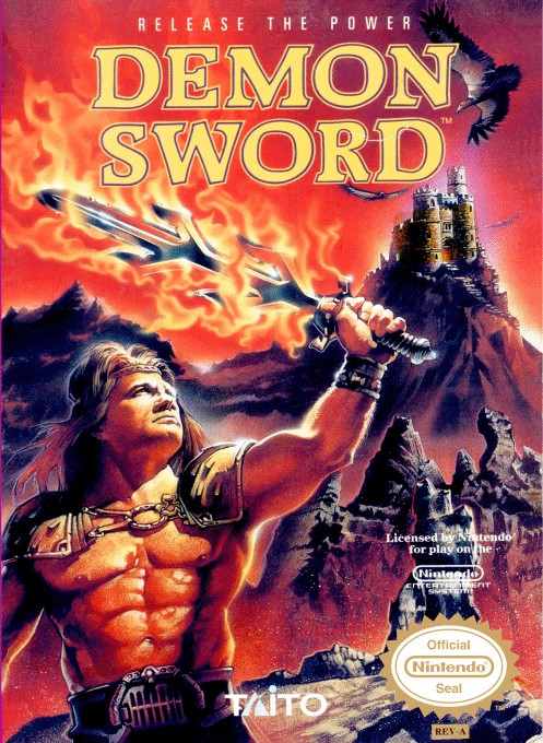 Front boxart of the game Demon Sword (United States) on Nintendo NES