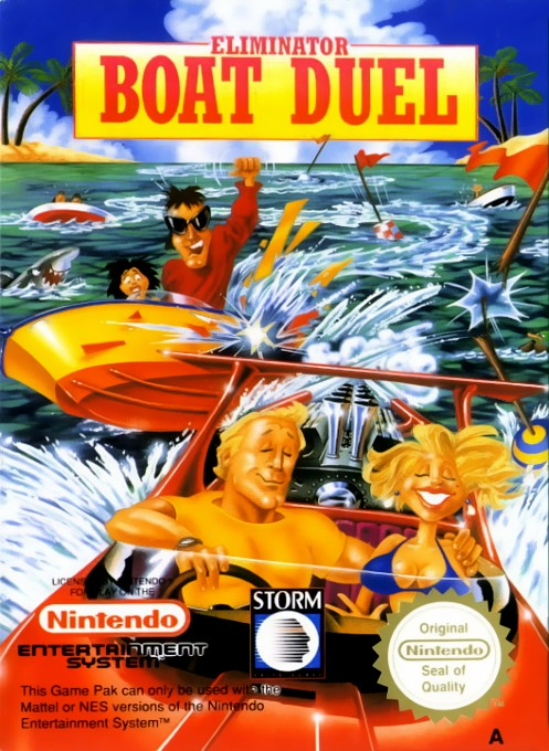 Front boxart of the game Eliminator Boat Duel (Europe) on Nintendo NES