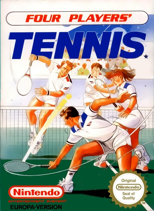 Front boxart of the game Top Players' Tennis - Featuring Chris Evert & Ivan Lendl (Europe) on Nintendo NES