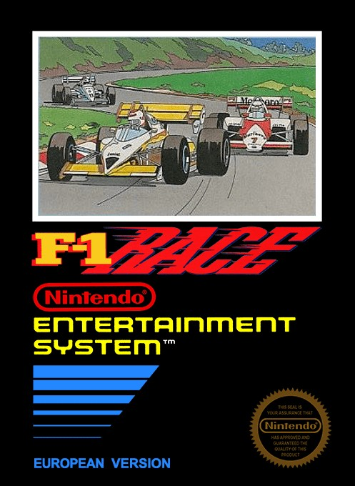 Front boxart of the game F-1 Race on Nintendo NES
