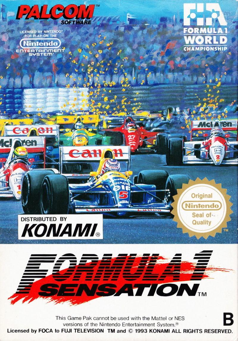 Front boxart of the game F-1 Sensation (Europe) on Nintendo NES