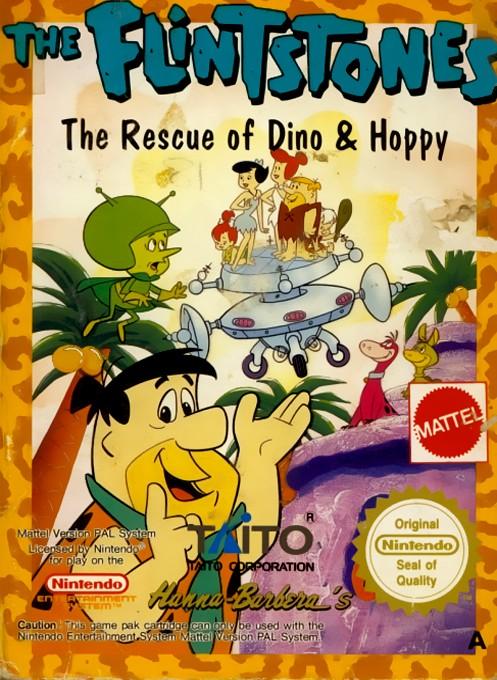 Front boxart of the game Flintstones, The - The Rescue of Dino & Hoppy (Europe) on Nintendo NES