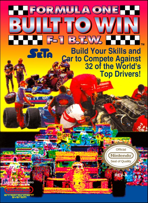 Front boxart of the game Formula One - Built To Win (United States) on Nintendo NES