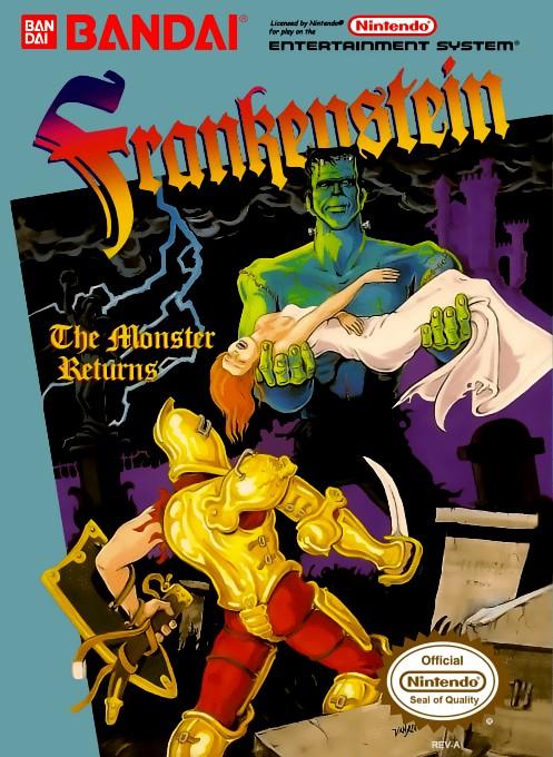 Front boxart of the game Frankenstein - The Monster Returns (United States) on Nintendo NES