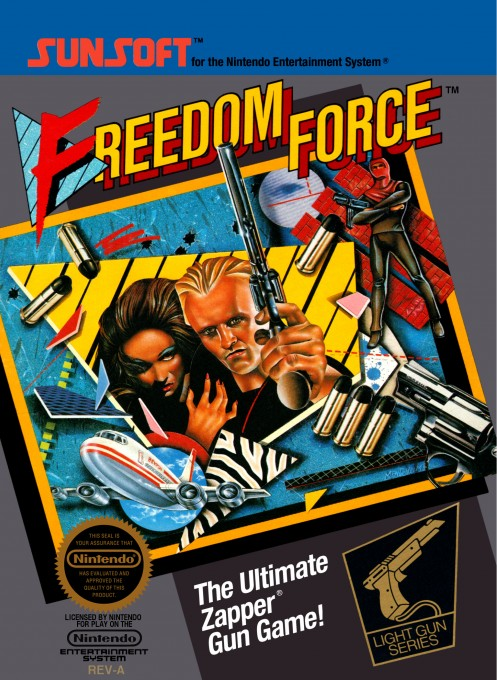 Front boxart of the game Freedom Force (United States) on Nintendo NES