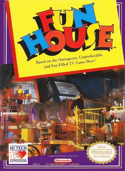 Front boxart of the game Fun House (United States) on Nintendo NES