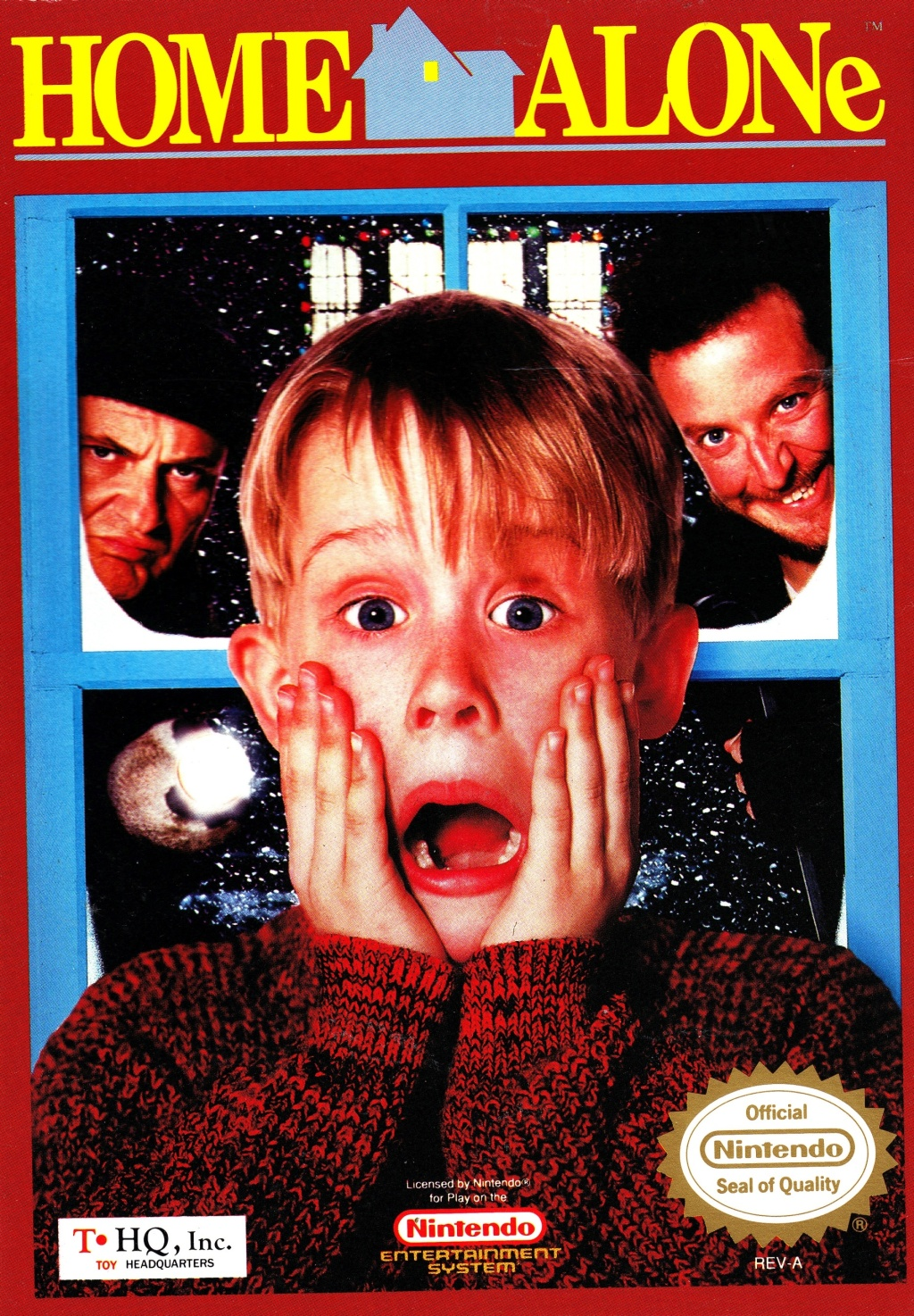 Front boxart of the game Home Alone (United States) on Nintendo NES