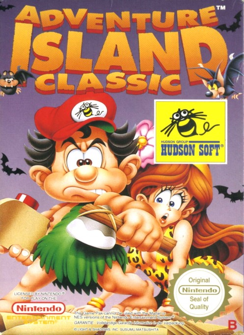 Front boxart of the game Adventure Island (Germany) on Nintendo NES
