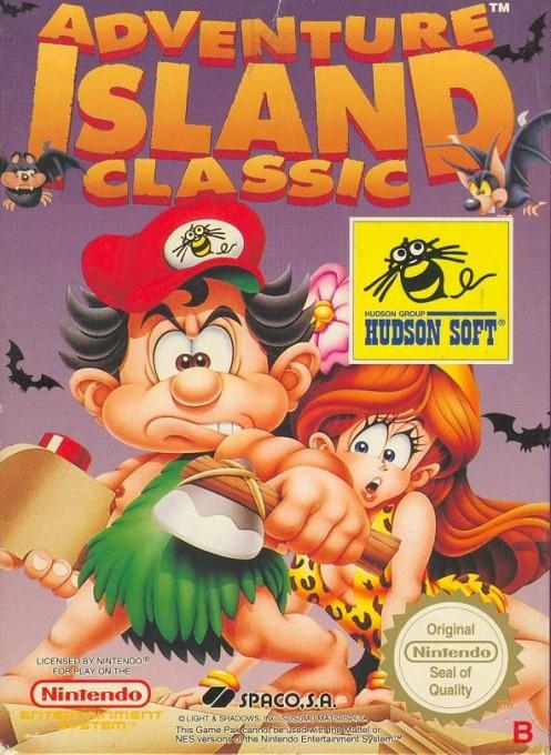 Front boxart of the game Adventure Island (Spain) on Nintendo NES