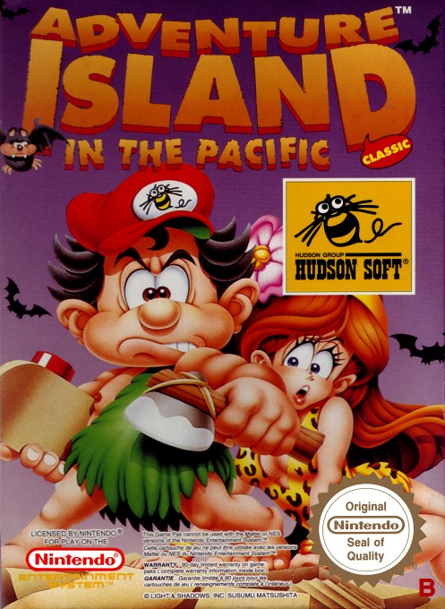 Front boxart of the game Adventure Island (Europe) on Nintendo NES