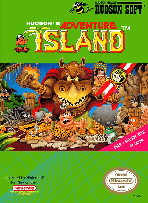 Front boxart of the game Adventure Island (United States) on Nintendo NES