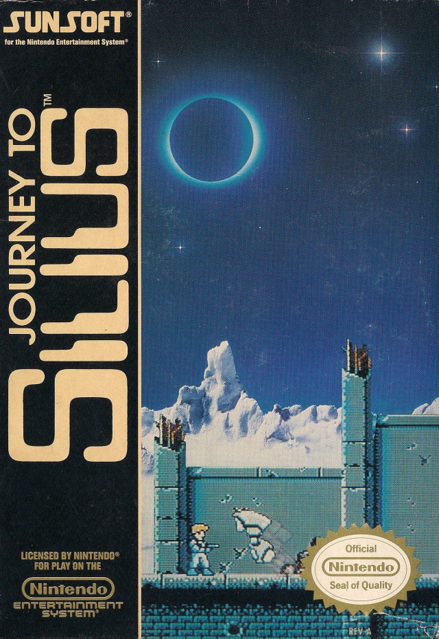 Front boxart of the game Journey to Silius (United States) on Nintendo NES