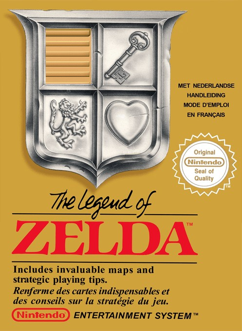 Front boxart of the game Legend of Zelda, The (Europe) on Nintendo NES