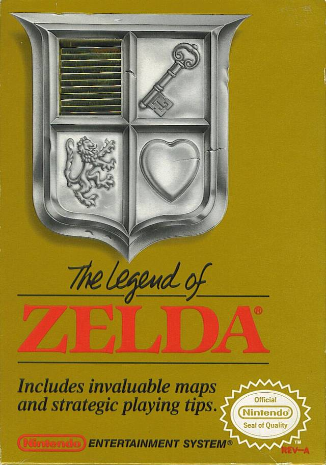 Front boxart of the game Legend of Zelda, The (United States) on Nintendo NES