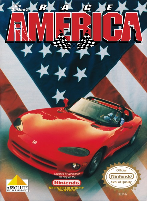 Front boxart of the game Race America (United States) on Nintendo NES