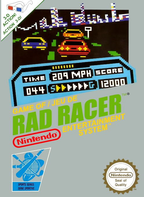 Front boxart of the game Rad Racer (France) on Nintendo NES