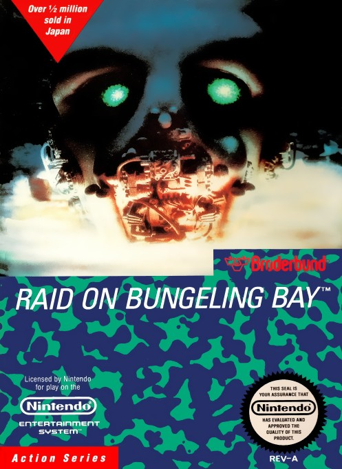 Front boxart of the game Raid on Bungeling Bay (United States) on Nintendo NES