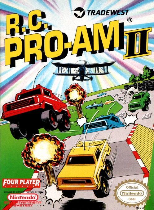 Front boxart of the game R.C. Pro-Am II (United States) on Nintendo NES