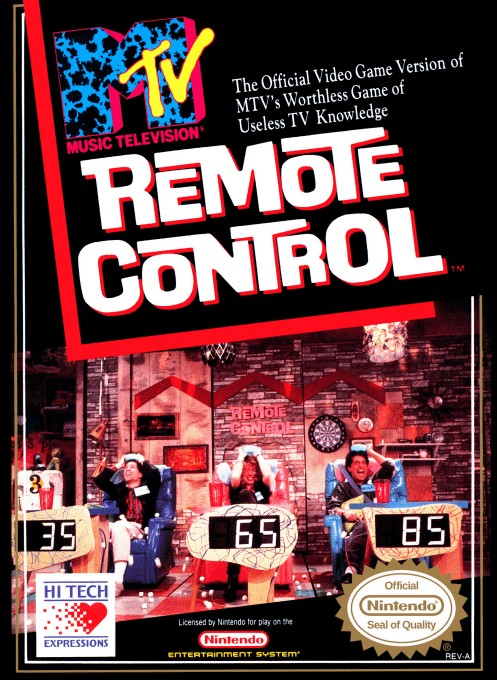 Front boxart of the game Remote Control (United States) on Nintendo NES