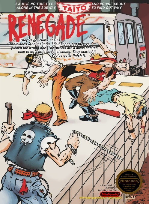 Front boxart of the game Renegade (United States) on Nintendo NES