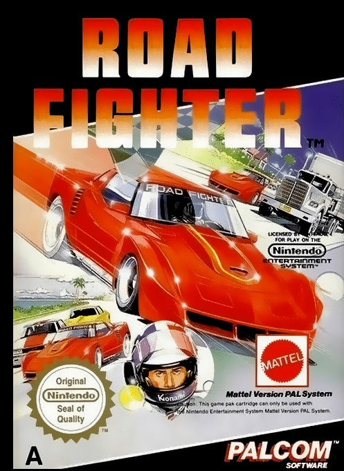 Front boxart of the game Road Fighter (Europe) on Nintendo NES