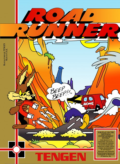 Front boxart of the game Road Runner (United States) on Nintendo NES