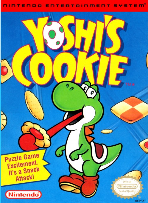 Front boxart of the game Yoshi's Cookie (United States) on Nintendo NES