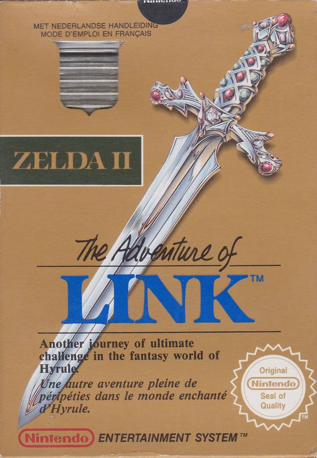 Front boxart of the game Zelda II - The Adventure of Link (Europe) on Nintendo NES