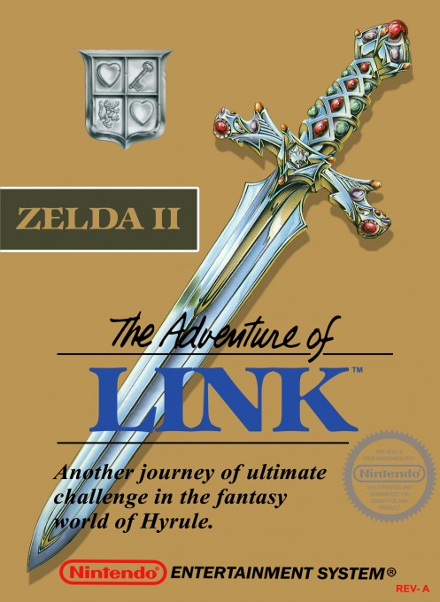 Front boxart of the game Zelda II - The Adventure of Link (United States) on Nintendo NES