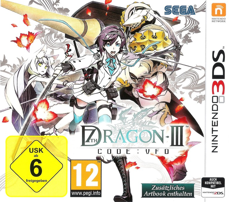 Front boxart of the game 7th Dragon III Code - VFD (Germany) on Nintendo 3DS
