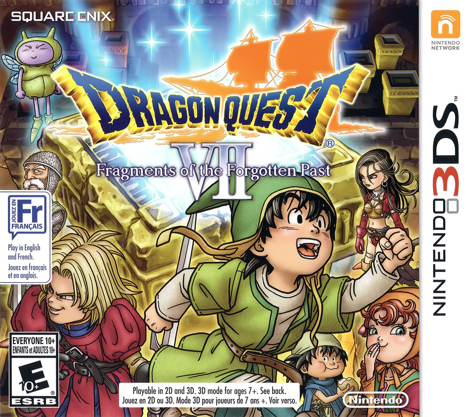 Front boxart of the game Dragon Quest VII - Fragments of the Forgotten Past (Canada) on Nintendo 3DS