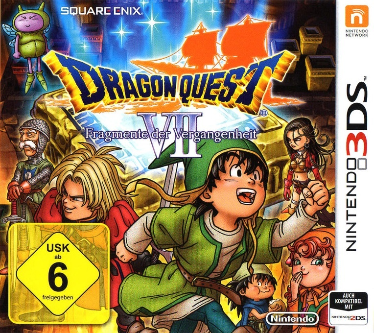 Front boxart of the game Dragon Quest VII - Fragments of the Forgotten Past (Germany) on Nintendo 3DS