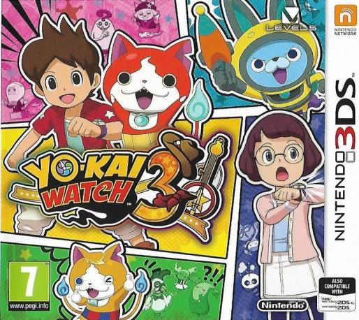 Front boxart of the game Yo-kai Watch 3 (Europe) on Nintendo 3DS