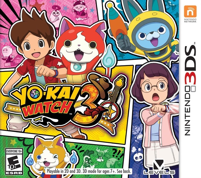 Front boxart of the game Yo-kai Watch 3 (United States) on Nintendo 3DS