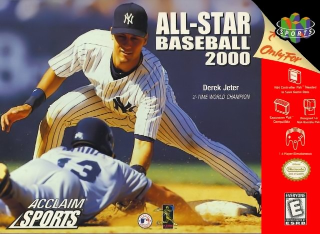 Front boxart of the game All-Star Baseball 2000 (Europe) on Nintendo 64