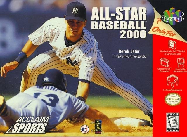 Front boxart of the game All-Star Baseball 2000 (United States) on Nintendo 64