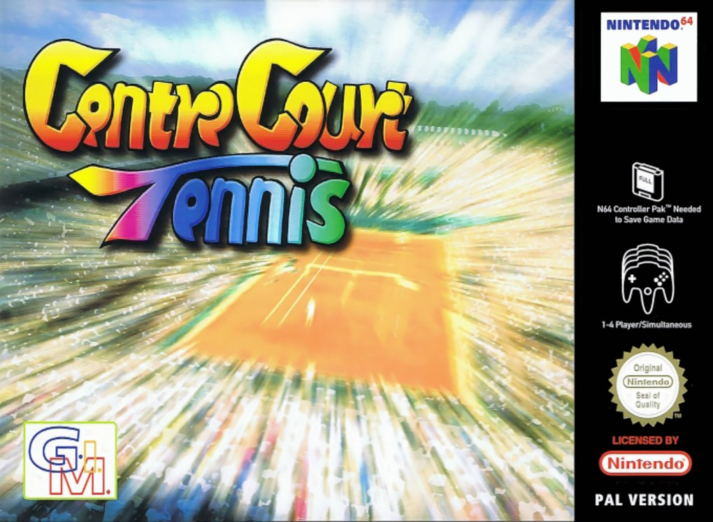 Front boxart of the game Centre Court Tennis (Europe) on Nintendo 64