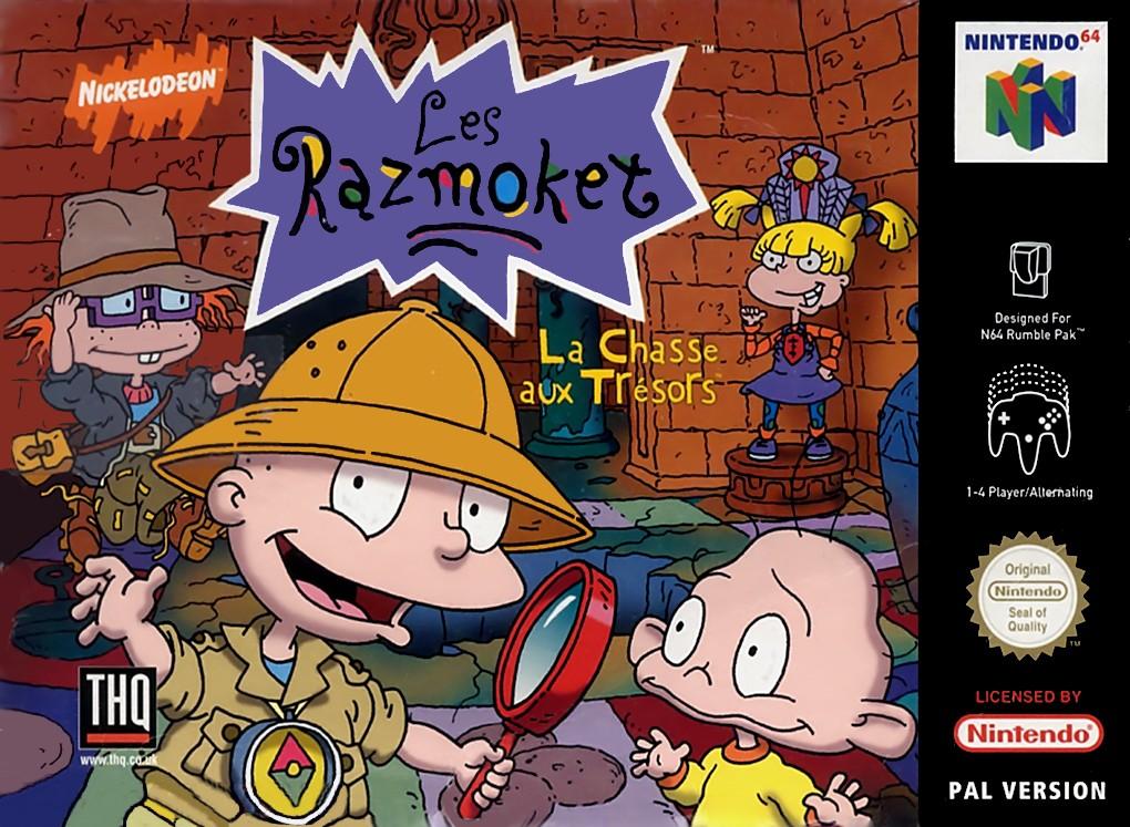 Front boxart of the game Les Razmoket - La Chasse Aux Tresors (France) on Nintendo 64