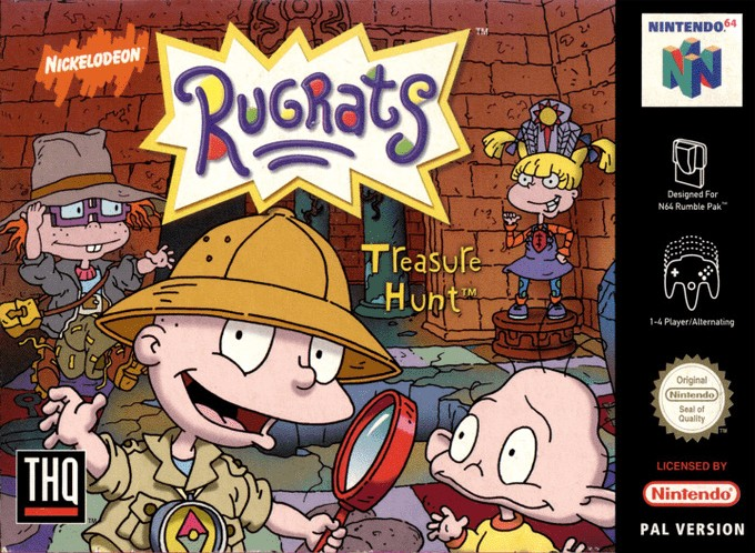 Front boxart of the game Rugrats - Treasure Hunt (Europe) on Nintendo 64