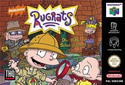 Front boxart of the game Rugrats - Die grosse Schatzsuche (Germany) on Nintendo 64