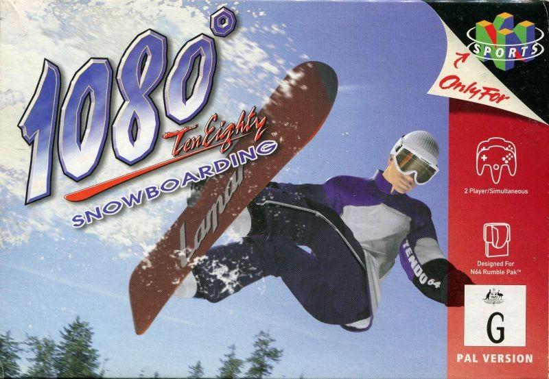 Front boxart of the game 1080 Snowboarding (Australia) on Nintendo 64