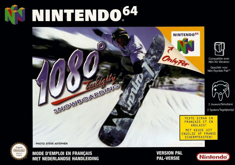 Front boxart of the game 1080 Snowboarding (Europe) on Nintendo 64