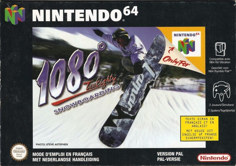 Front boxart of the game 1080 Snowboarding (France) on Nintendo 64