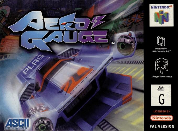 Front boxart of the game AeroGauge (Australia) on Nintendo 64