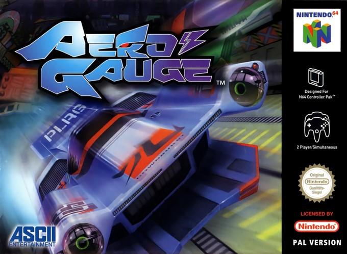 Front boxart of the game AeroGauge (Europe) on Nintendo 64