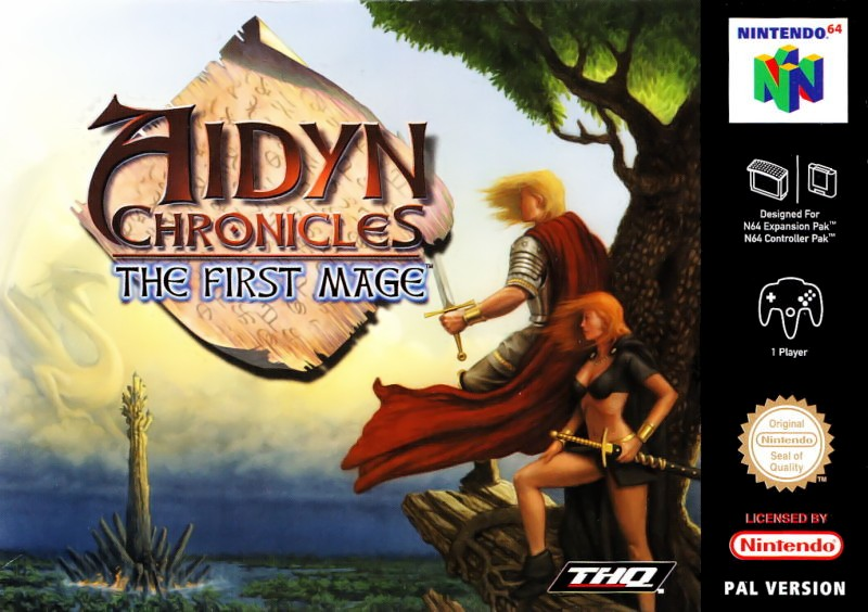 Front boxart of the game Aidyn Chronicles - The First Mage (Europe) on Nintendo 64