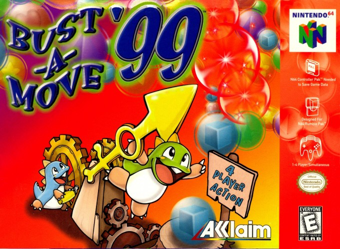 Front boxart of the game Bust-A-Move '99 (United States) on Nintendo 64